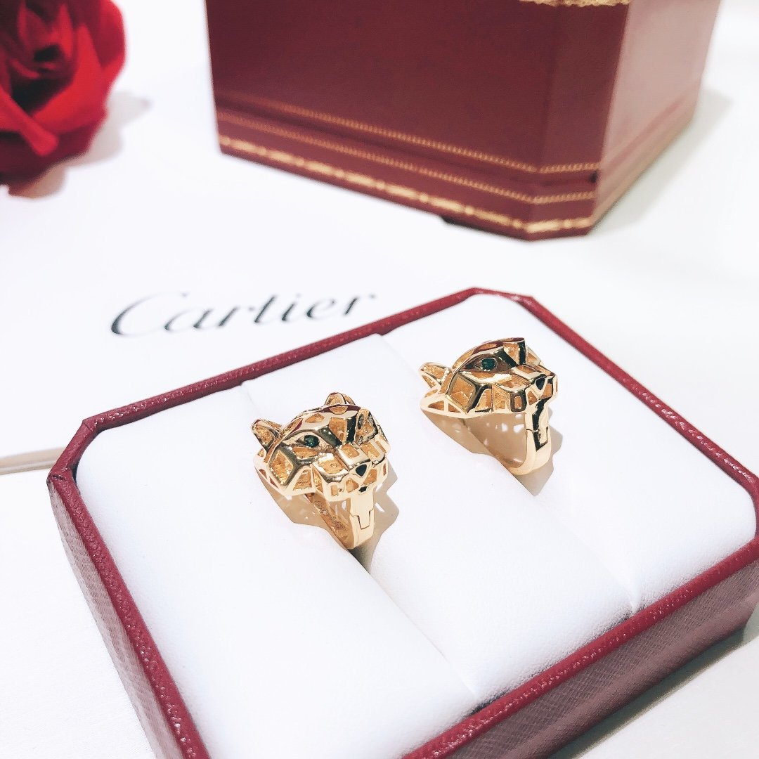 豹子耳扣奢华豹头镂空光面Cartie