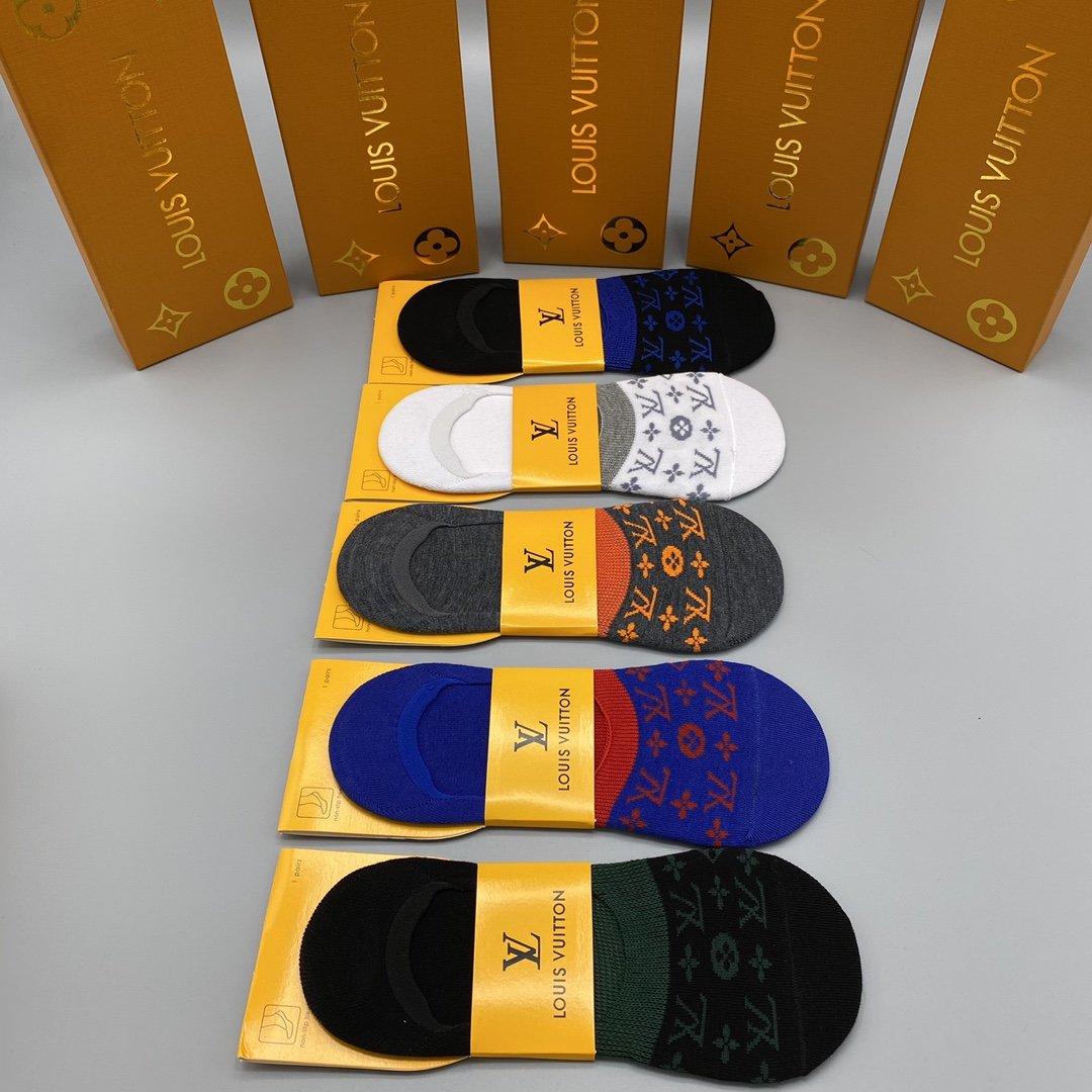 新款LV隐形袜市场顶级品质[得意][