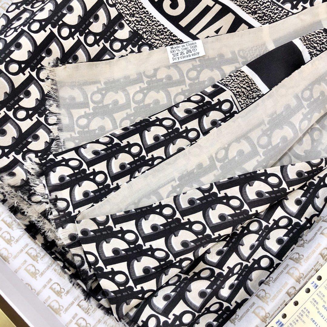 Dior新款丝巾重磅推荐桑蚕真丝Dior第一名主打丝巾(图6)