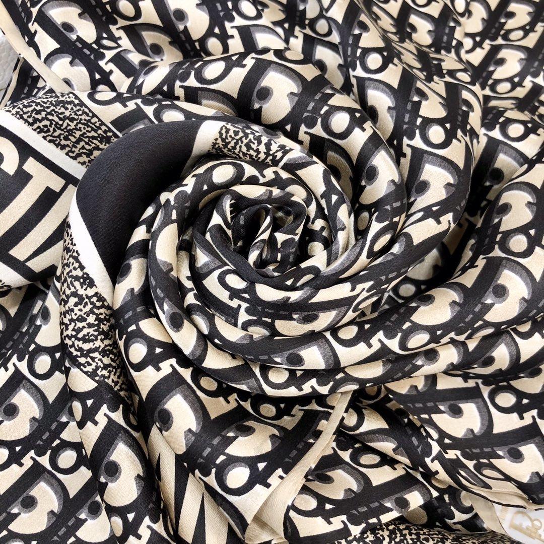 Dior新款丝巾重磅推荐桑蚕真丝Dior第一名主打丝巾(图8)