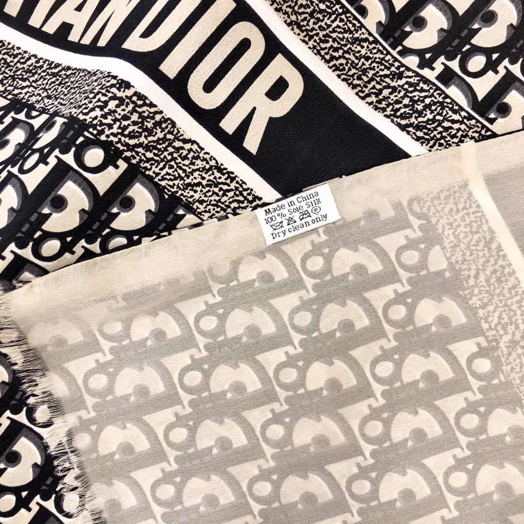 Dior新款丝巾重磅推荐桑蚕真丝Dior第一名主打丝巾(图7)