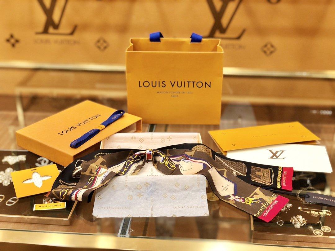 2019 秋冬系列风尚Louis Vuitton Tribute To 真丝束发带丝巾(图1)
