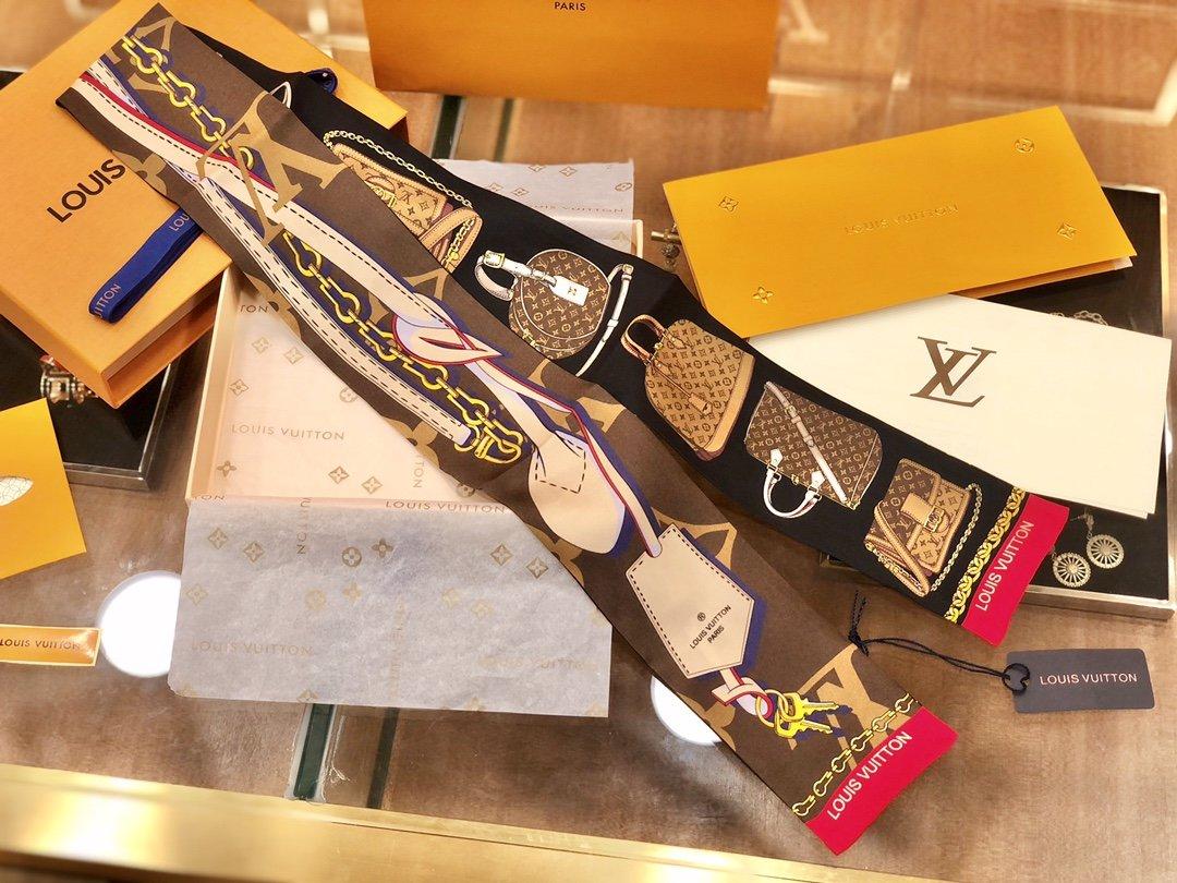 2019 秋冬系列风尚Louis Vuitton Tribute To 真丝束发带丝巾(图3)