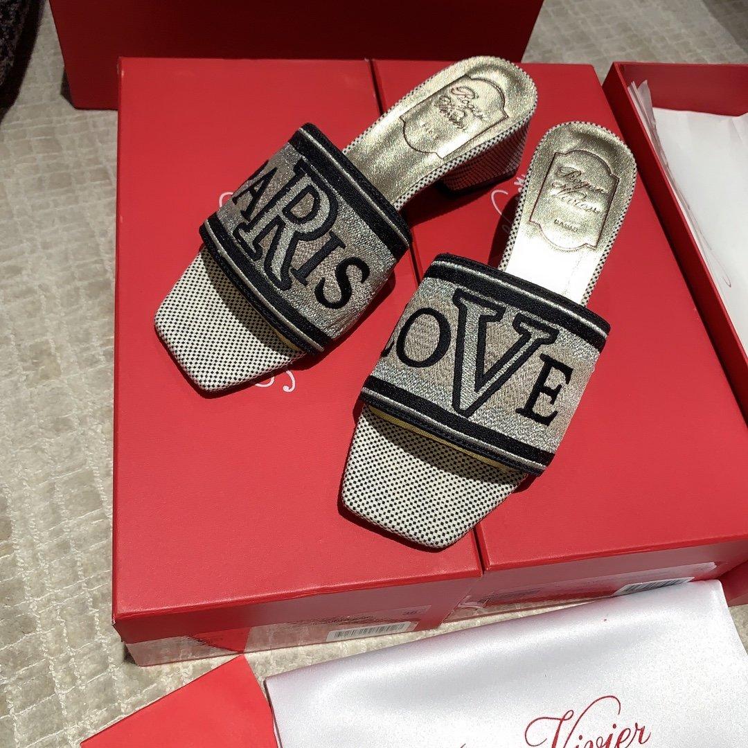 Roge Vivie20ss新款拖鞋 专柜同款(图5)
