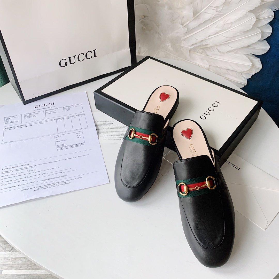 Gucci 2020早秋系列 穆勒鞋红蓝织带(图3)