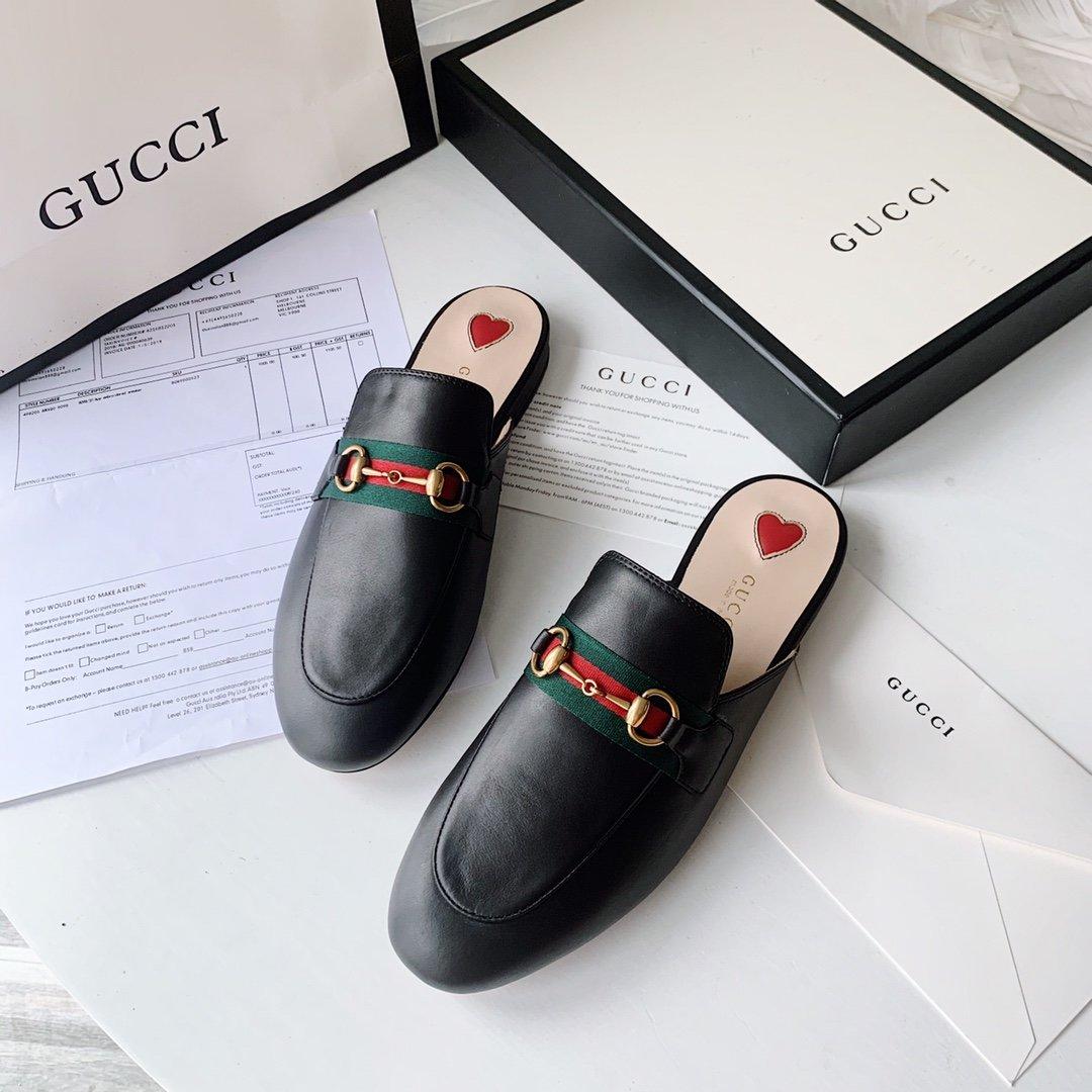Gucci 2020早秋系列 穆勒鞋红蓝织带(图4)