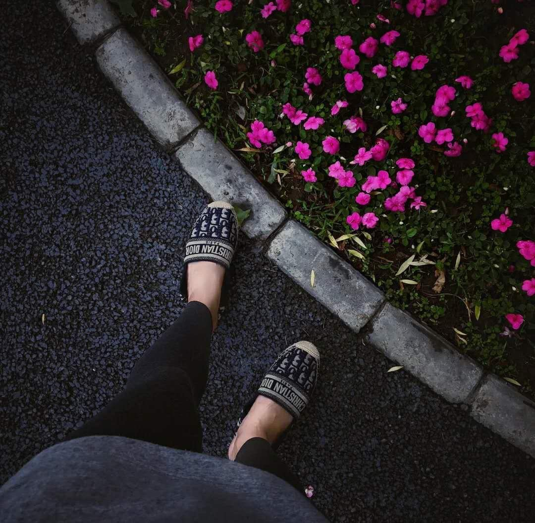Dior 春夏新款迪奥渔夫鞋 OBLIQUE图案提花刺绣帆布草编渔夫鞋 (图2)