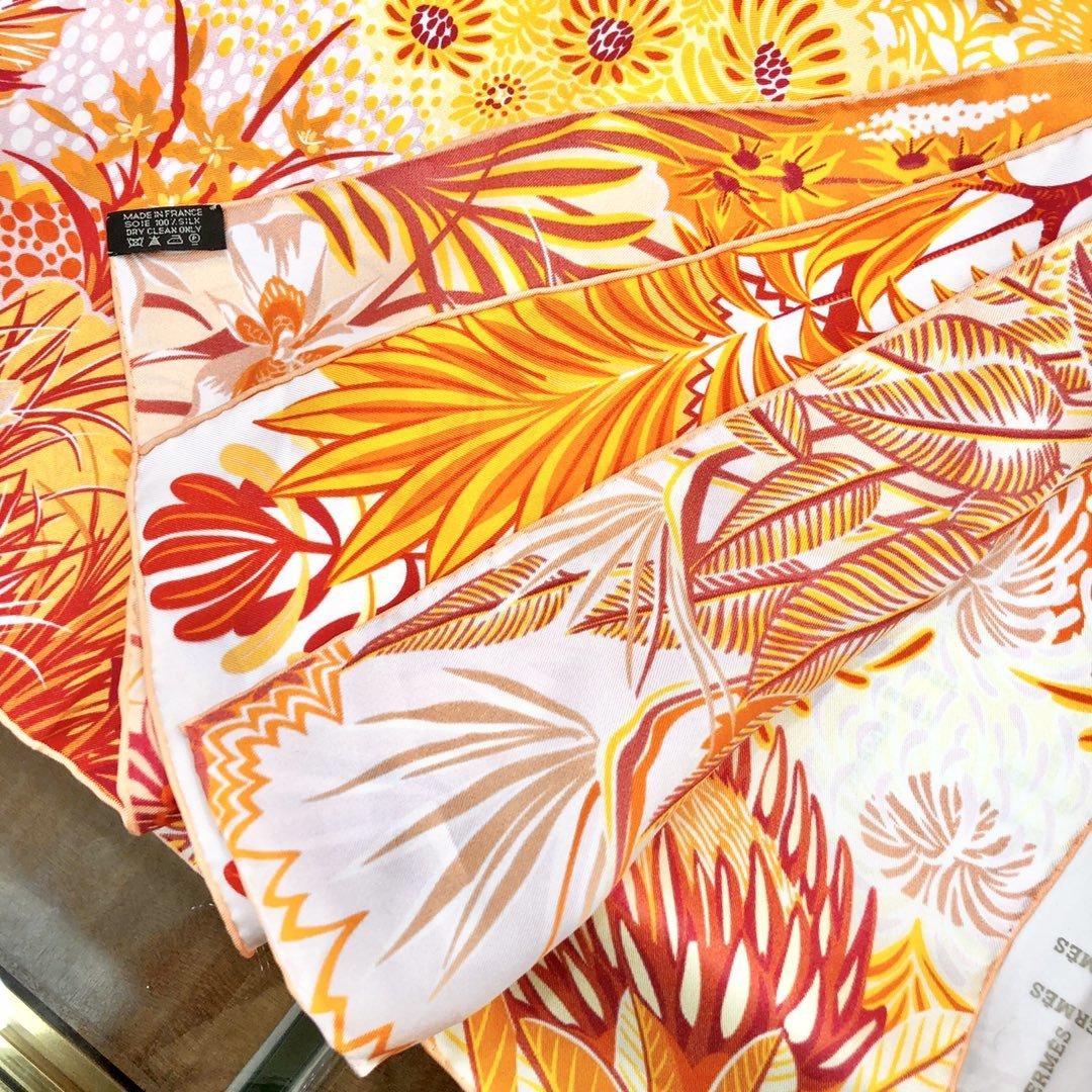 Hermes新款林中斑马90cm真丝方巾(图3)