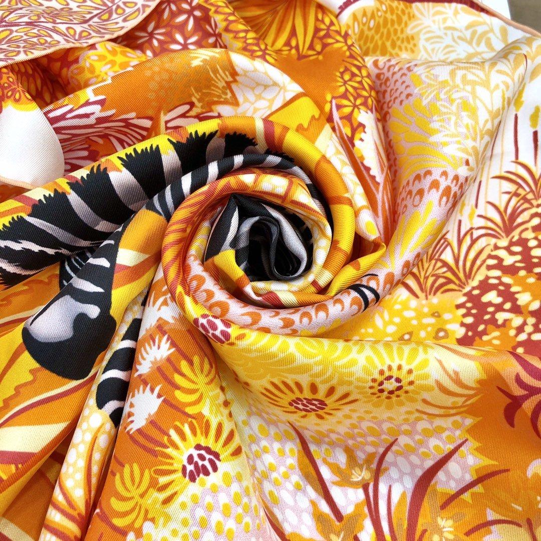 Hermes新款林中斑马90cm真丝方巾(图6)