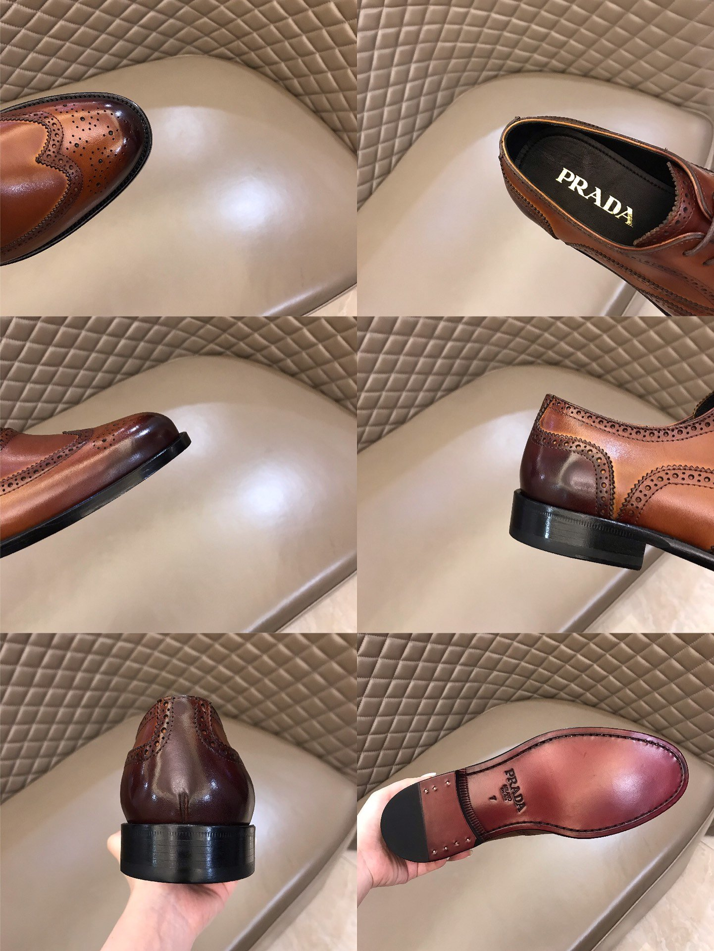 Prada家高端男士商务皮鞋原单级!
