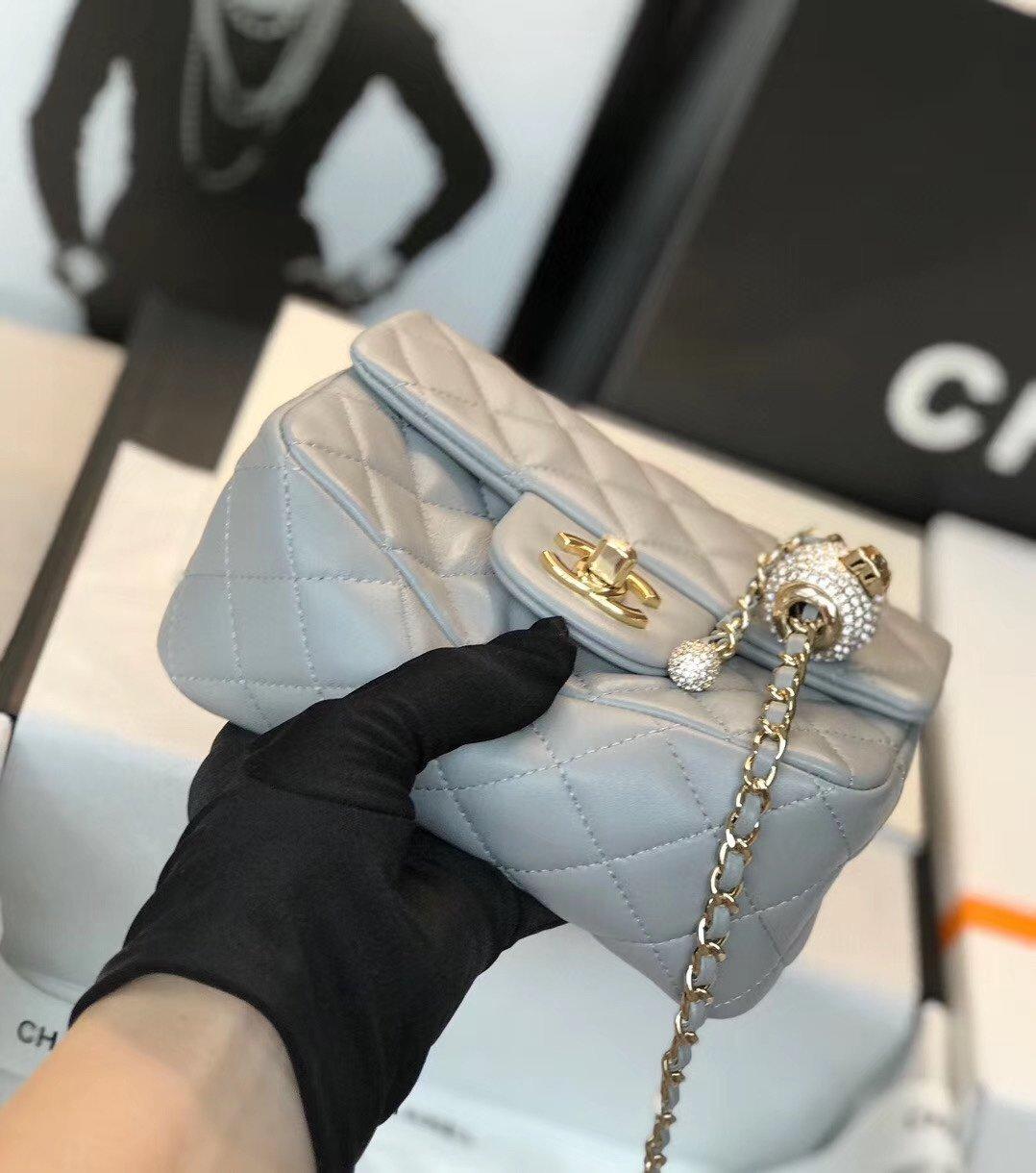 Chanel香奈儿专柜最新钻珠cf款(图4)