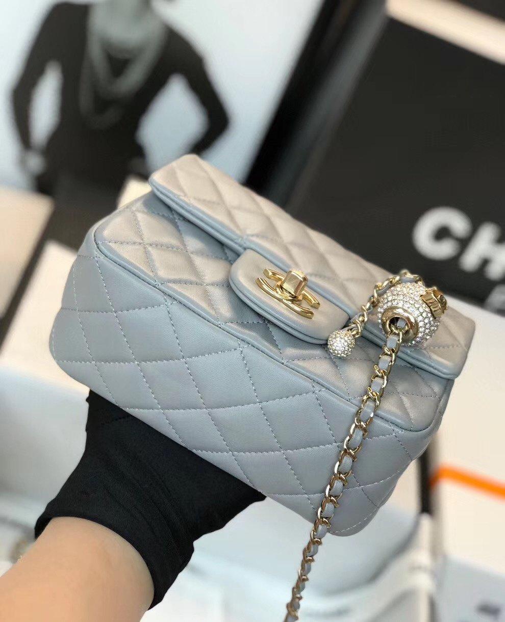 Chanel香奈儿专柜最新钻珠cf款(图7)