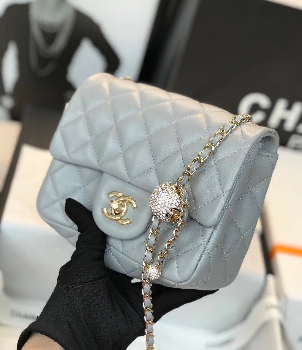 Chanel香奈儿专柜最新钻珠cf款(图8)