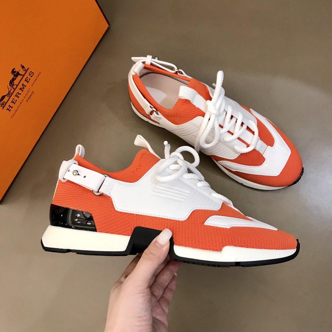 Hermes2020男士运动鞋饰有富
