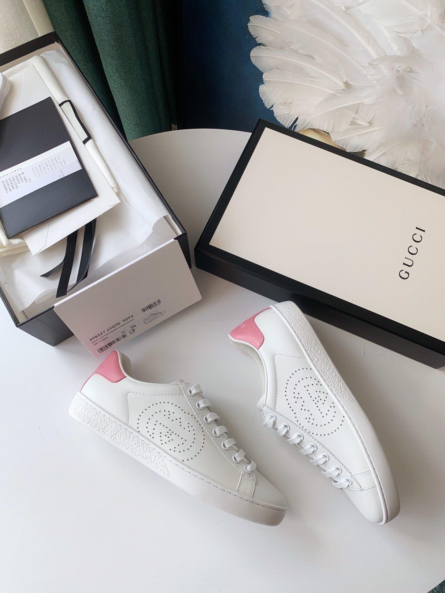 Gucci Ace小白鞋经典Ace运动鞋(图5)