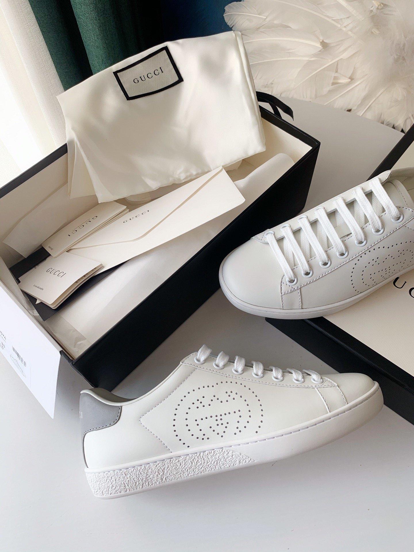 Gucci Ace小白鞋经典Ace运动鞋(图4)