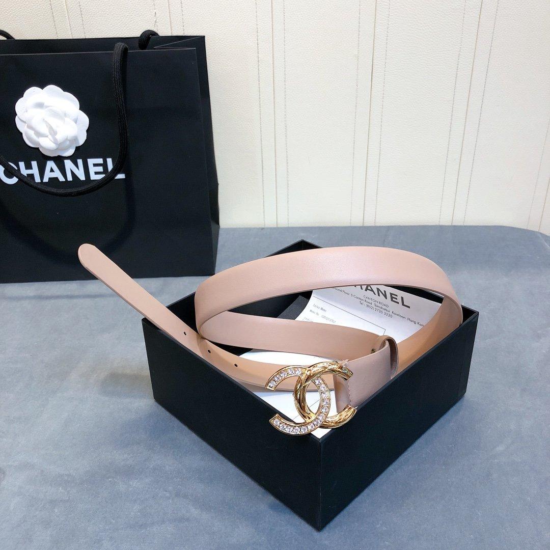 chanel香奈儿cc水钻logo扣女士皮带(图3)