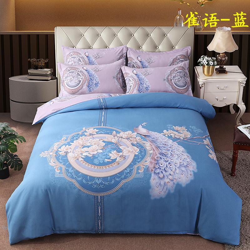 中国风贡棉磨毛四件套
