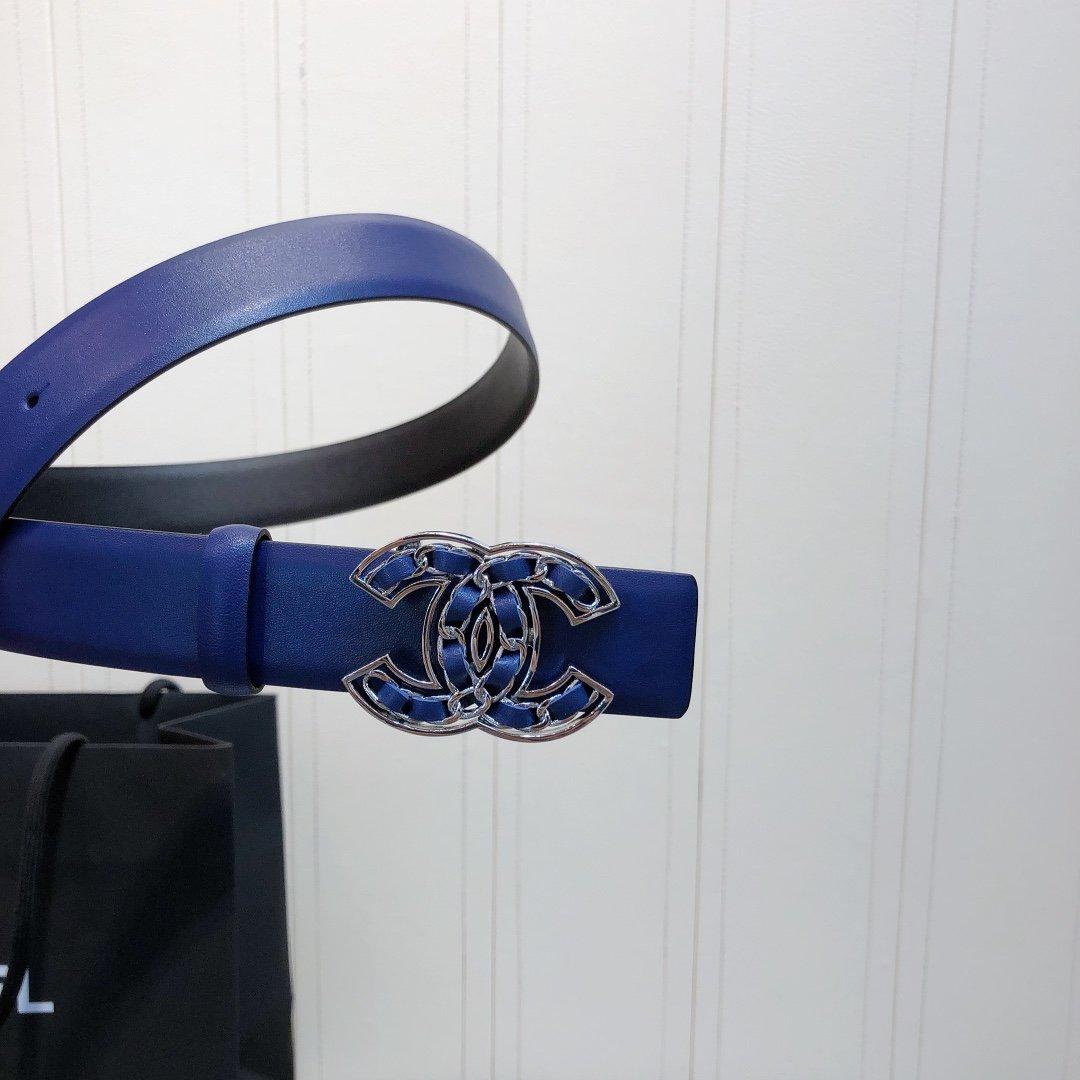 chanel 香奈儿cc编织logo扣. 双面头层进口皮软腰带(图5)
