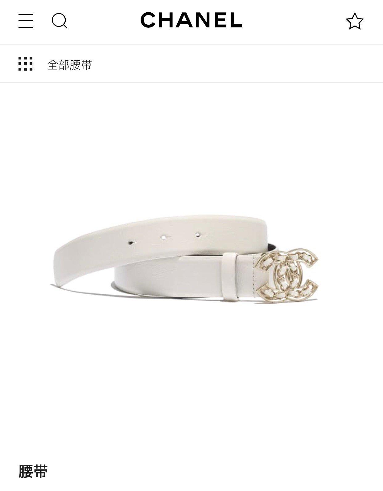 chanel 香奈儿cc编织logo扣. 双面头层进口皮软腰带(图3)