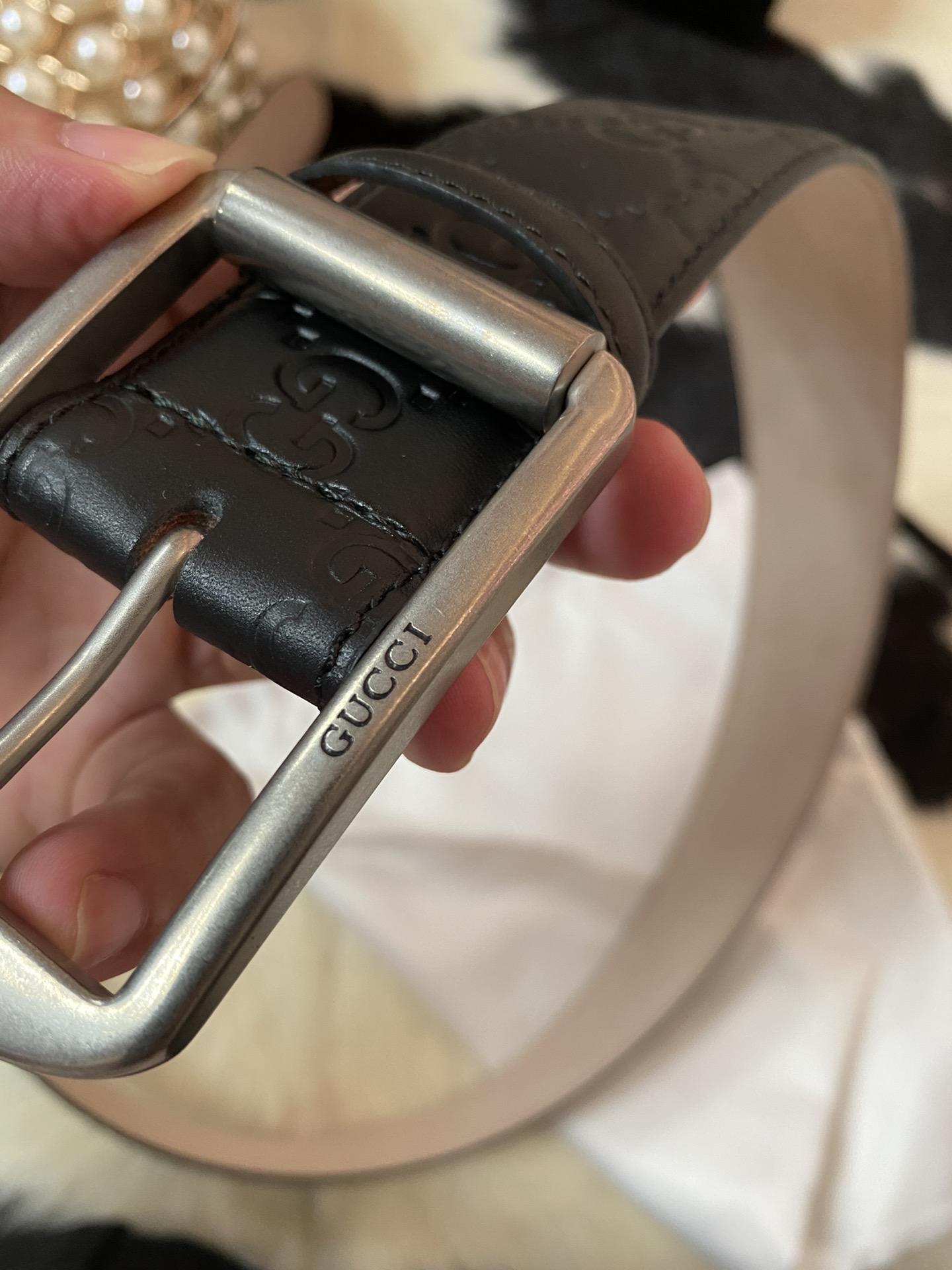 GUCCI压花针扣原单皮带 4cm(图6)