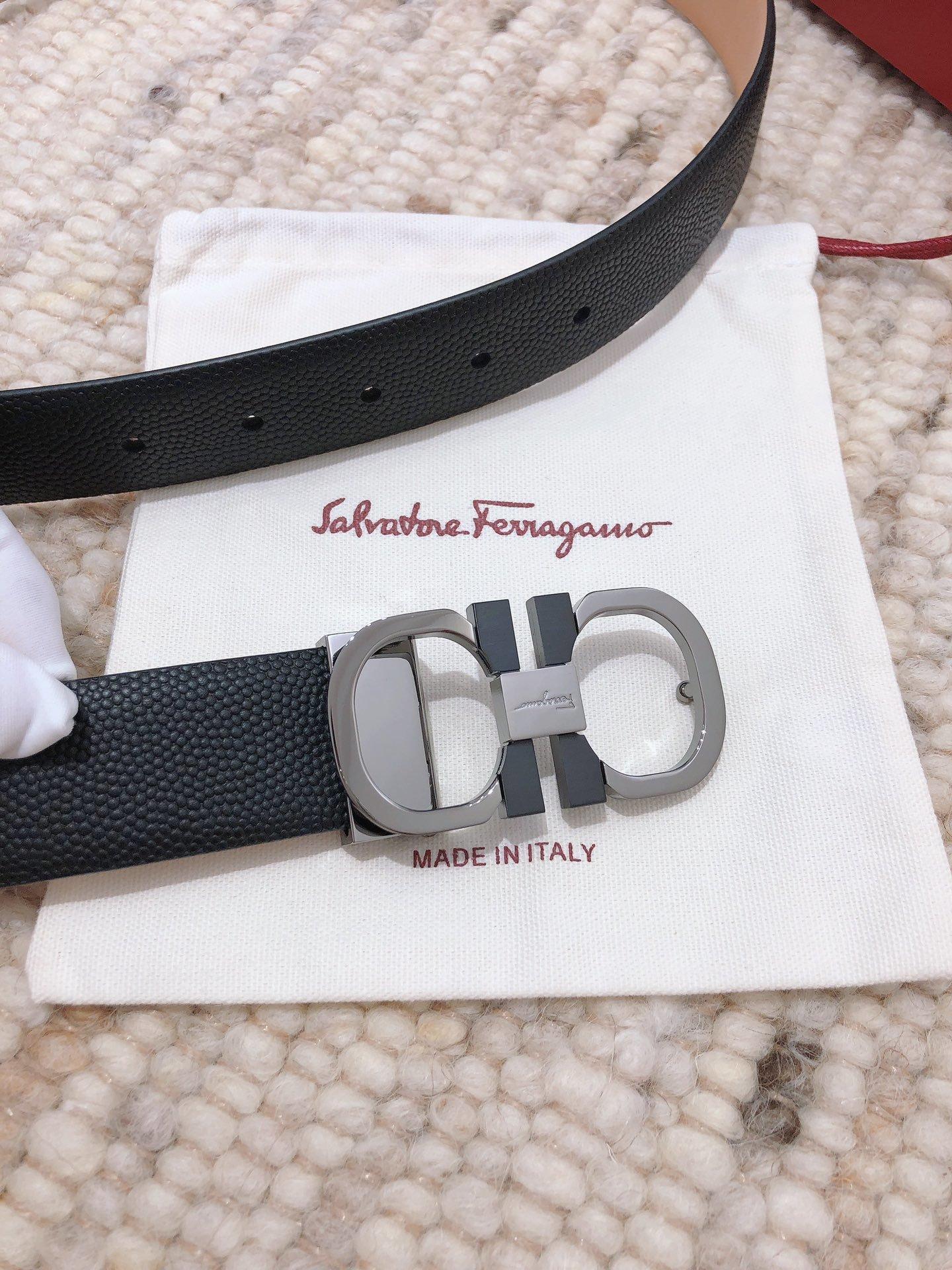 菲拉格慕原单牛货Salvatore Ferragamo  男款3.5cm(图3)