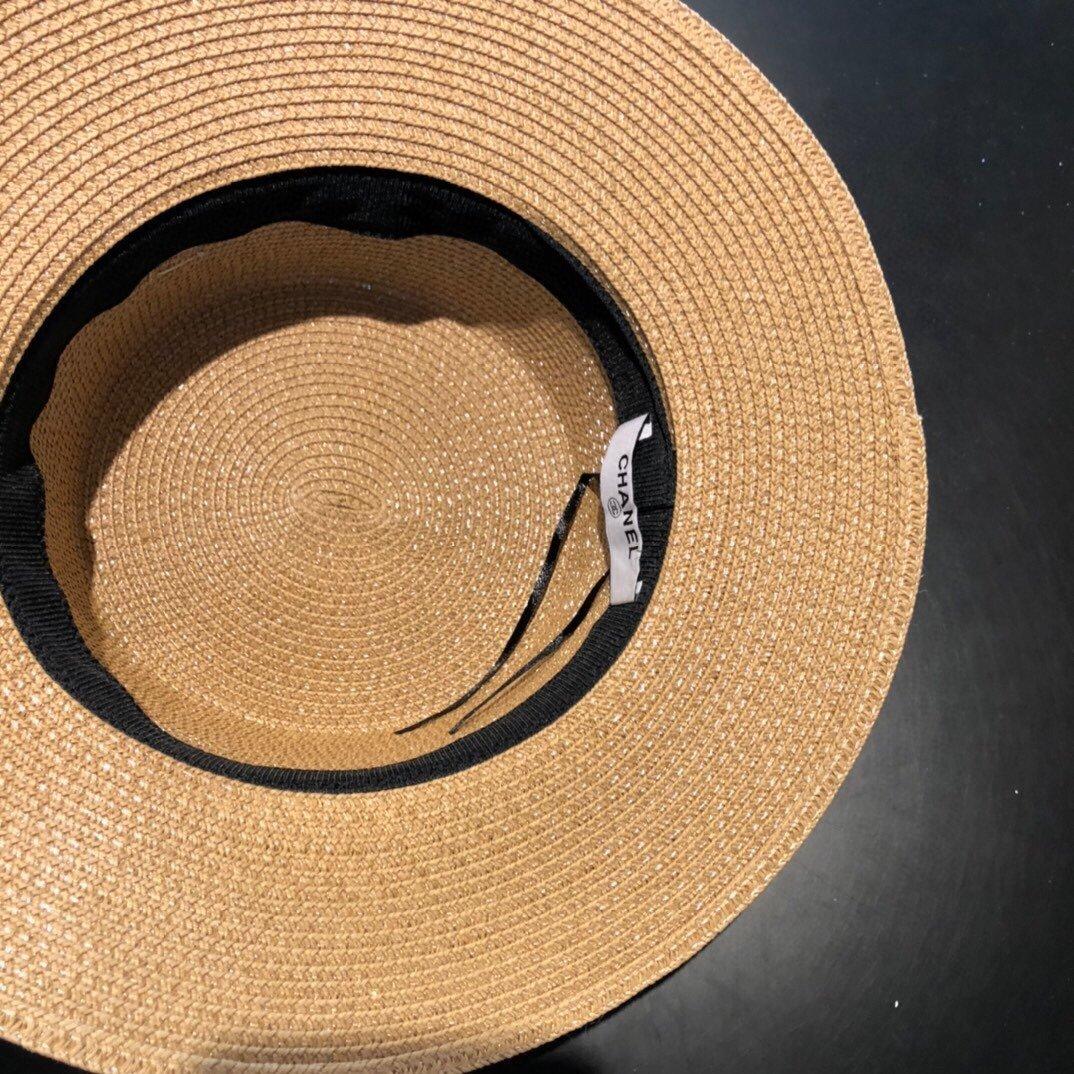 CHANEL香奈儿新款珍珠帽檐草帽礼帽(图7)