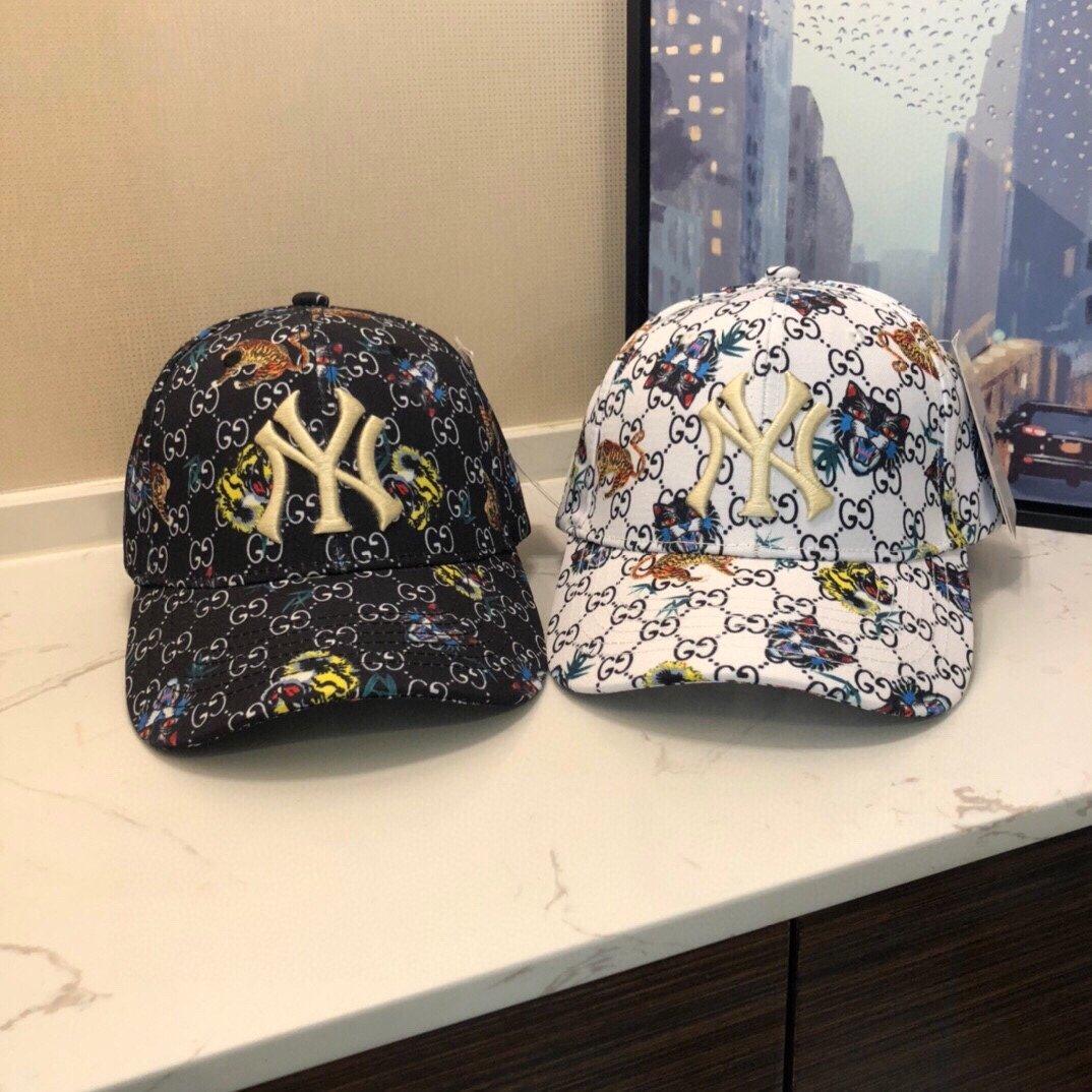 GUCCI 古奇彩色爆款专柜款棒球帽NY联盟专柜品质