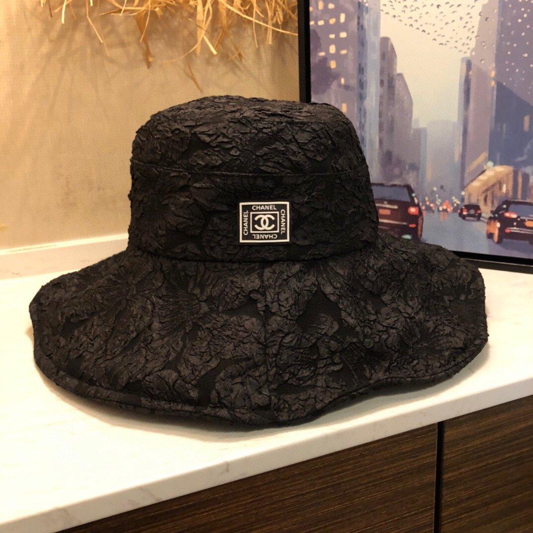 20春夏爆款Chanel香奈儿系列新品褶皱渔夫帽