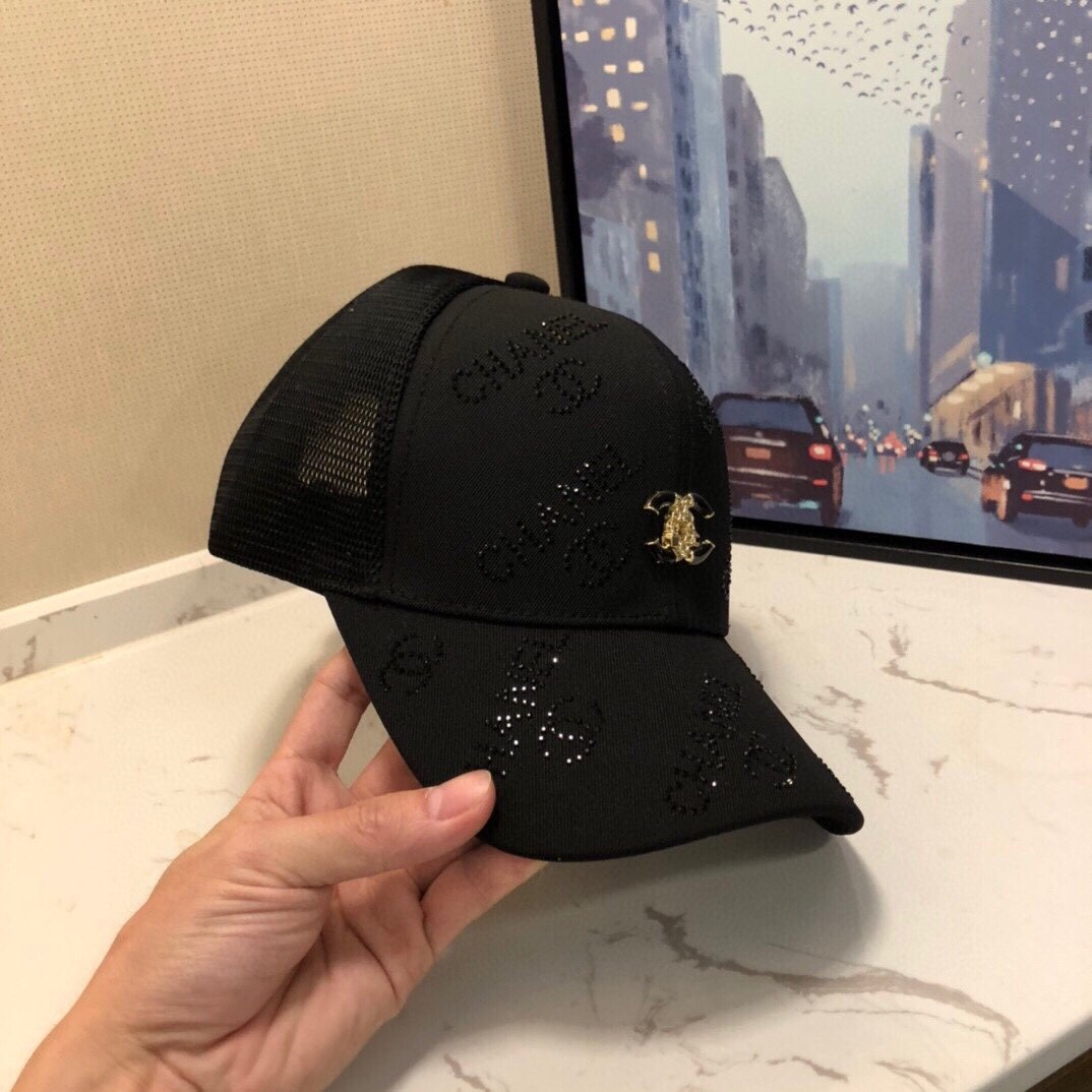 CHANEL 香奈儿点钻logo小香球棒帽(图3)