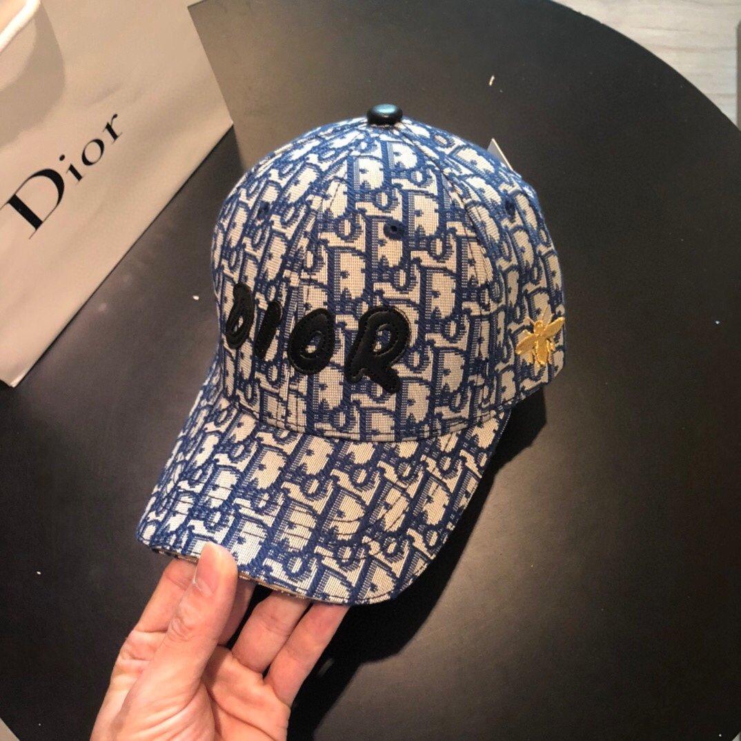 Dior迪奥新款 蜜蜂刺绣 原版帆布原单棒球帽(图10)