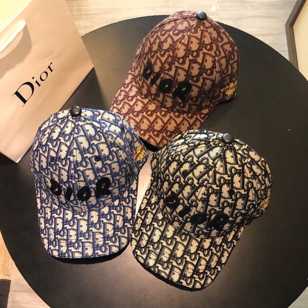 Dior迪奥新款 蜜蜂刺绣 原版帆布原单棒球帽