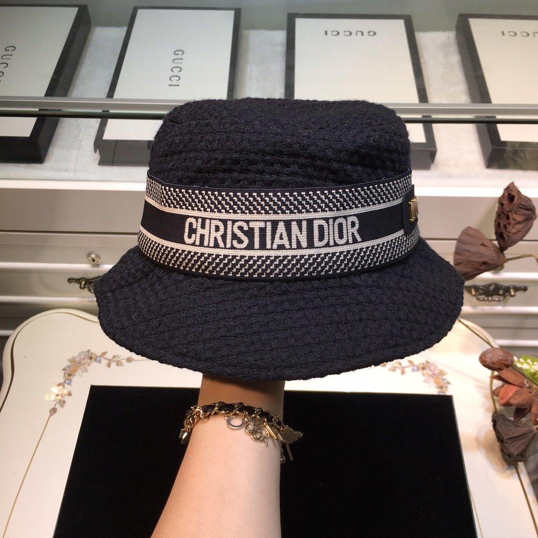 Dior迪奥 20早秋新款渔夫帽纯色编织系列(图3)