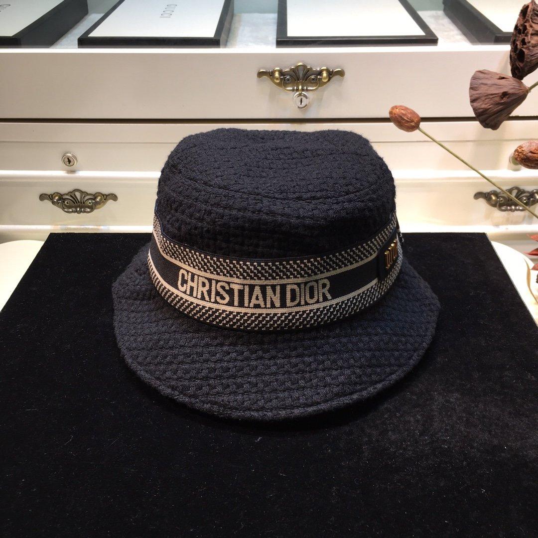 Dior迪奥 20早秋新款渔夫帽纯色编织系列