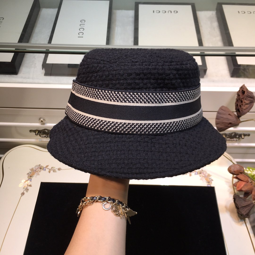 Dior迪奥 20早秋新款渔夫帽纯色编织系列(图7)