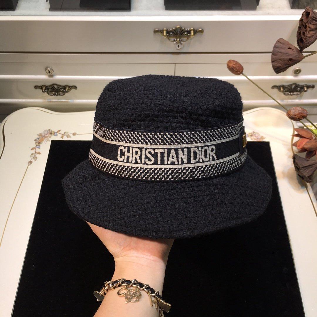 Dior迪奥 20早秋新款渔夫帽纯色编织系列(图4)