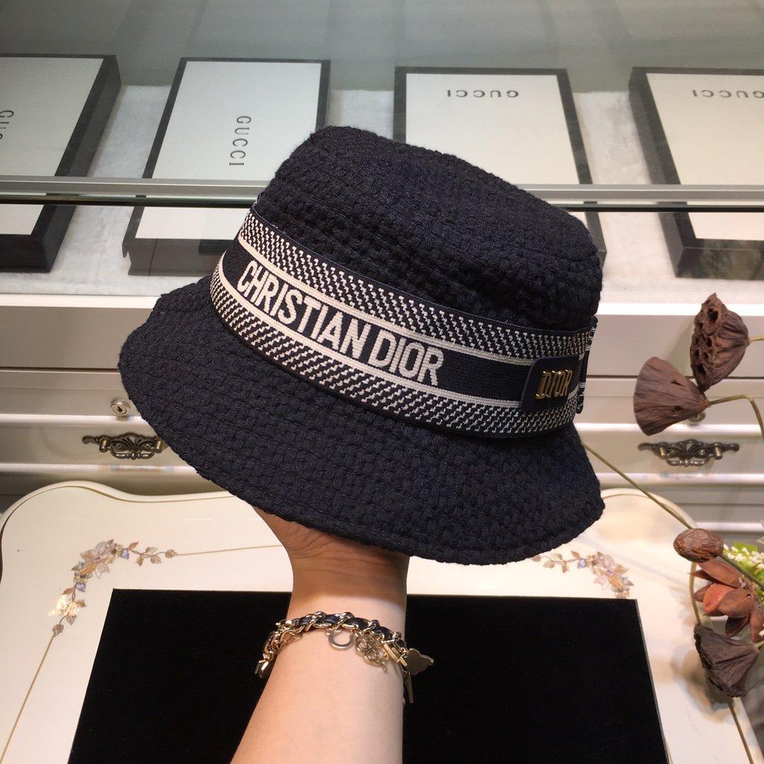 Dior迪奥 20早秋新款渔夫帽纯色编织系列(图6)