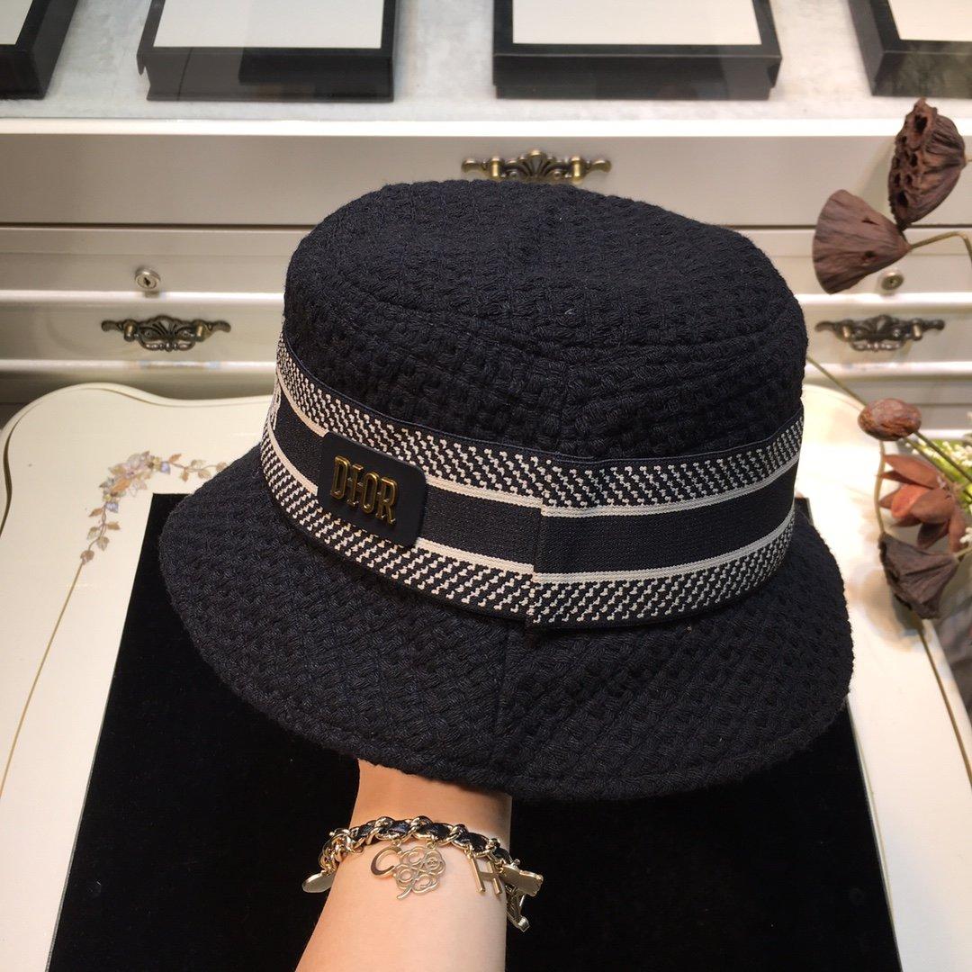Dior迪奥 20早秋新款渔夫帽纯色编织系列(图5)