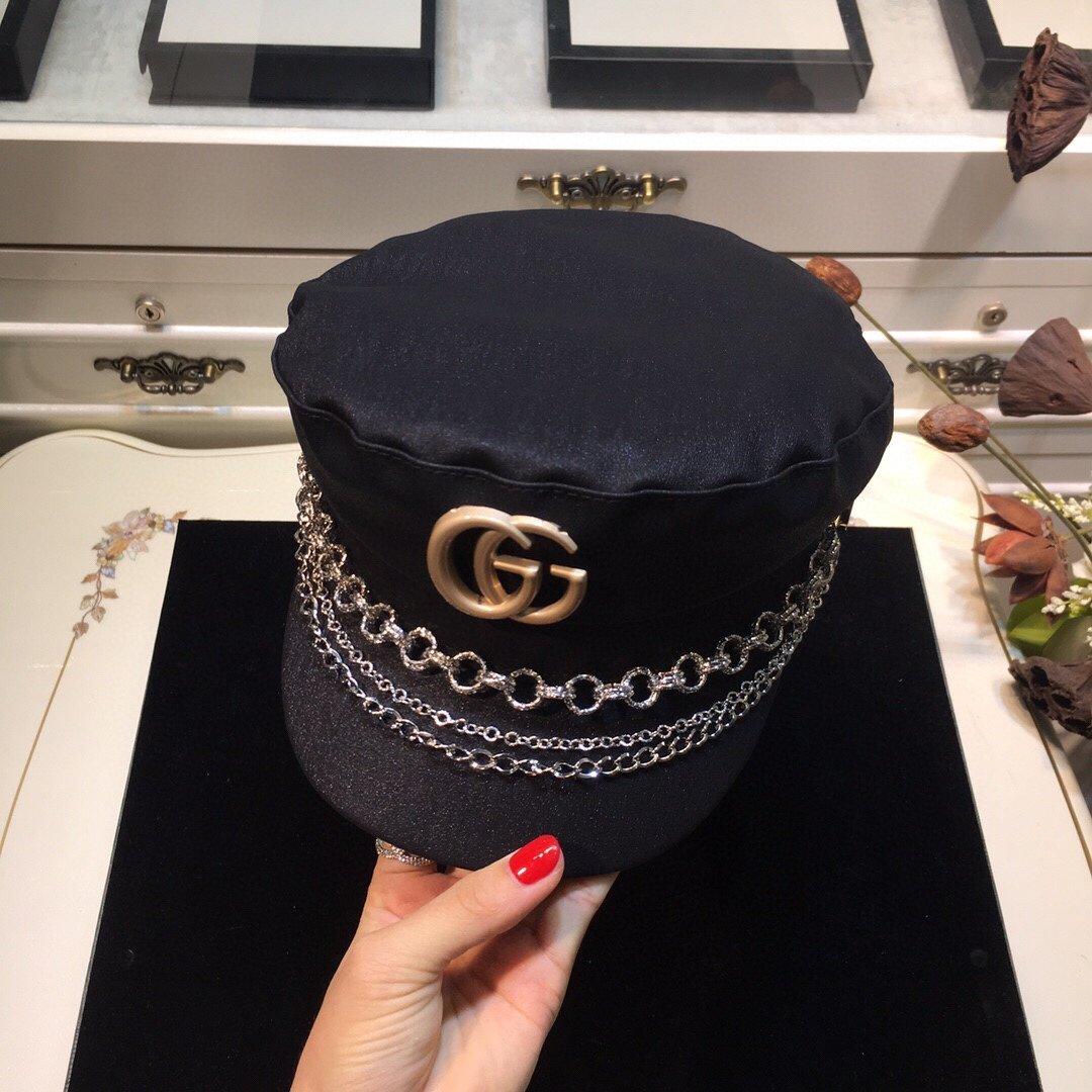 古奇GUCCI链条军帽专柜同款(图3)