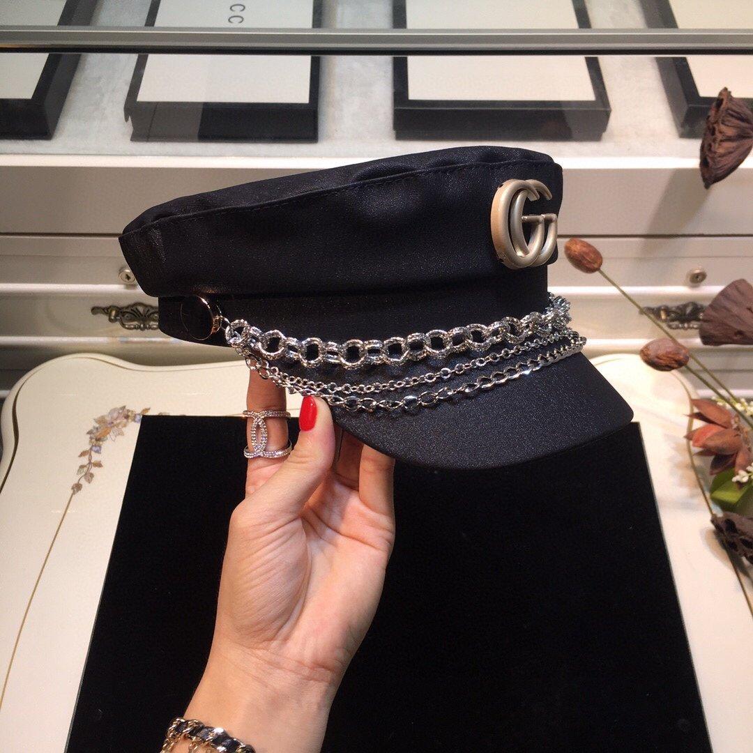 古奇GUCCI链条军帽专柜同款(图6)