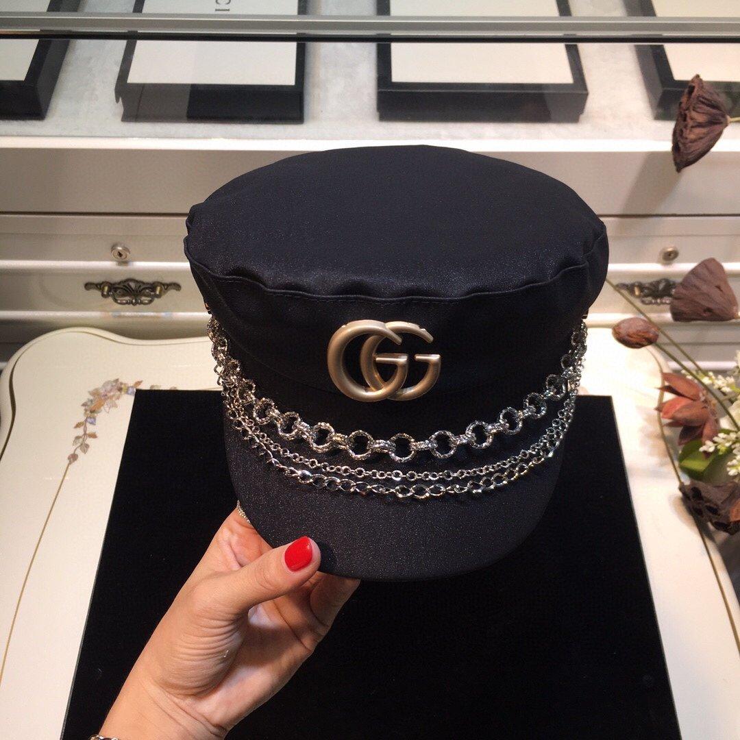 古奇GUCCI链条军帽专柜同款(图8)