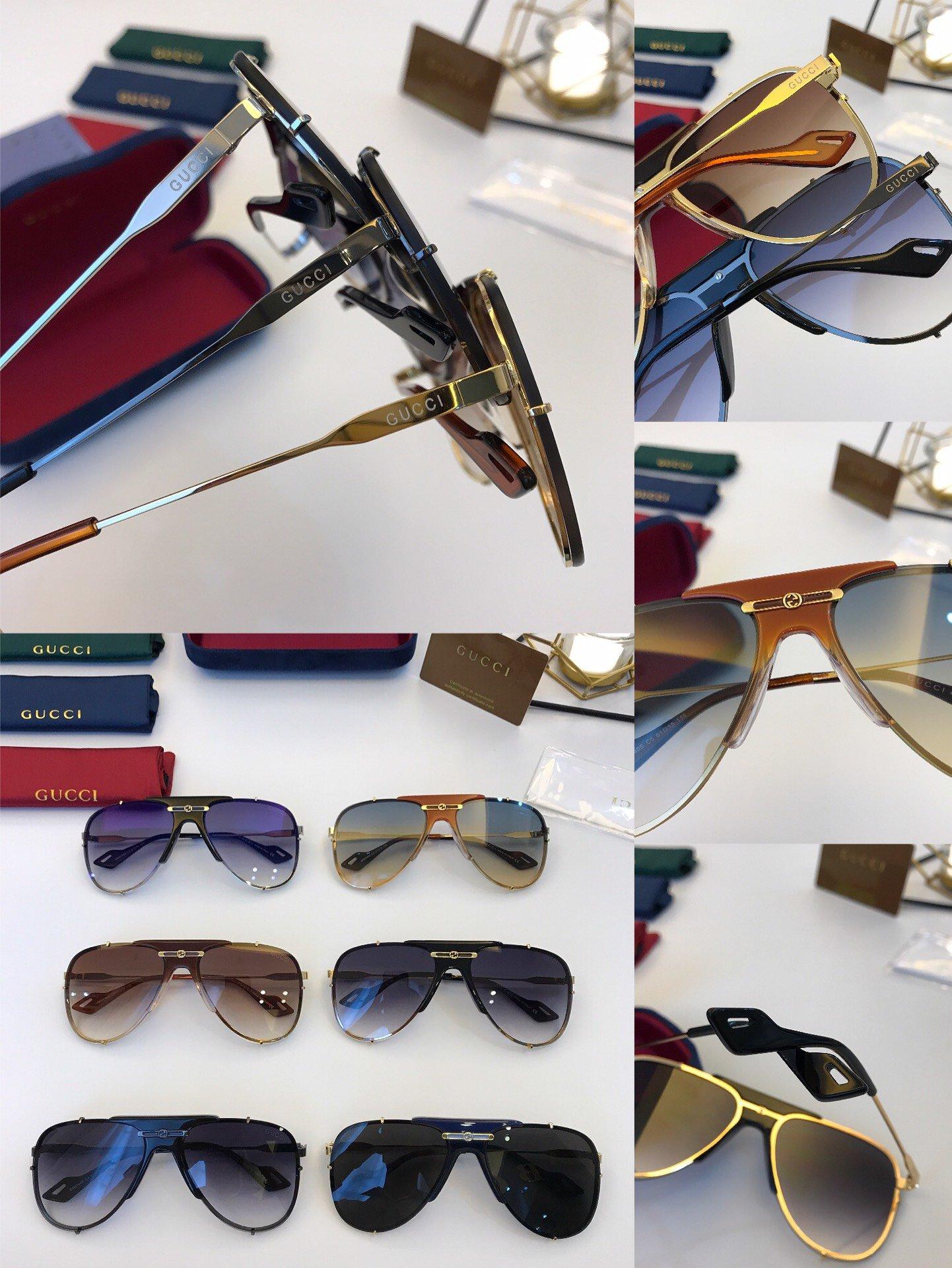 官网款 2020新款 GUCCi古家 GG0740S   超轻全框太阳眼镜(图1)