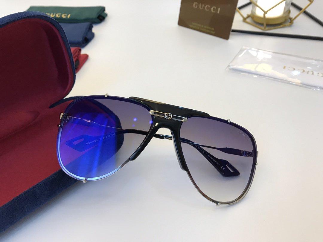 官网款 2020新款 GUCCi古家 GG0740S   超轻全框太阳眼镜(图5)