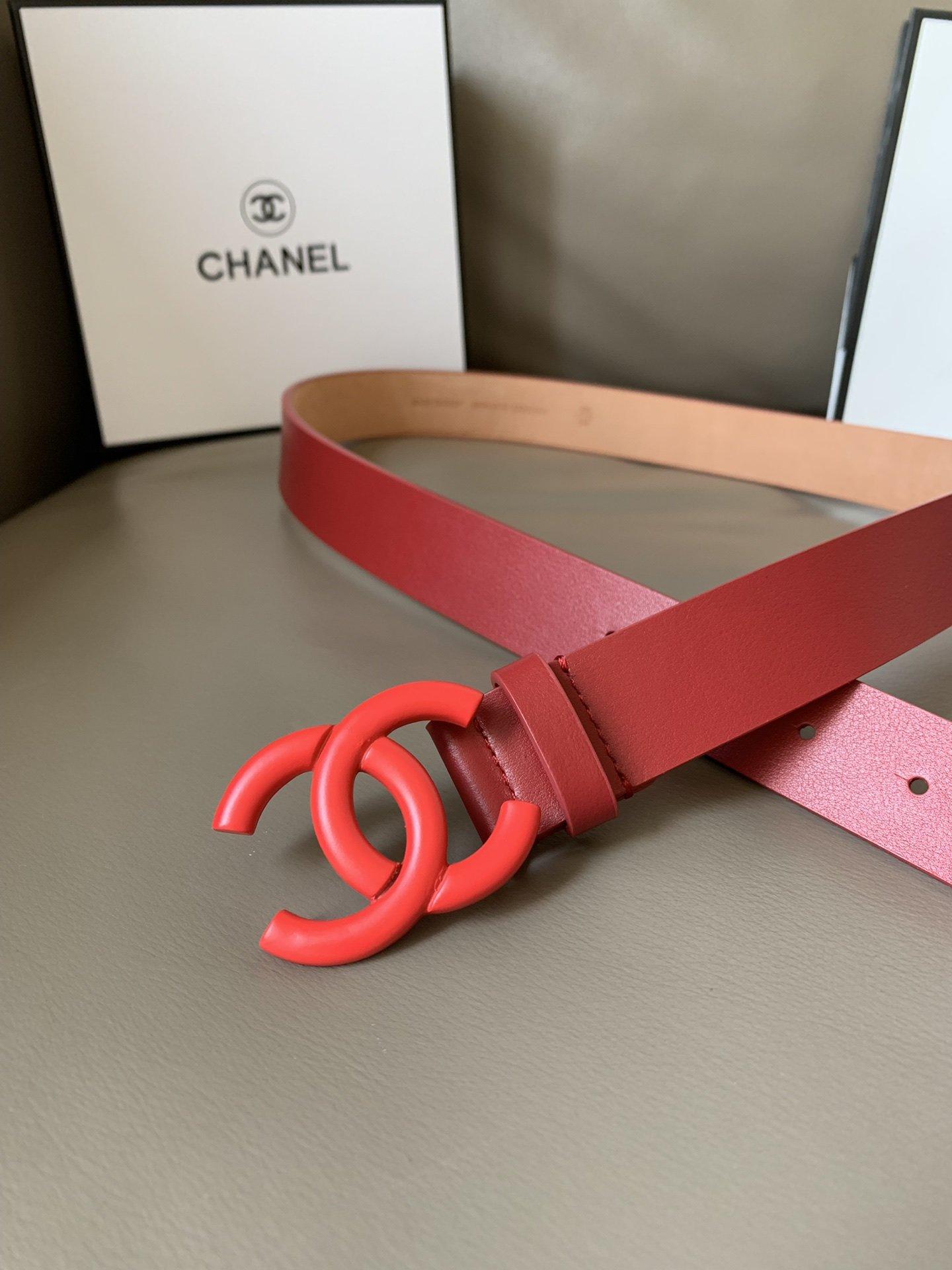 Chanel(香奈儿) 高端女士优雅腰带双C纯铜烤漆双面(图2)