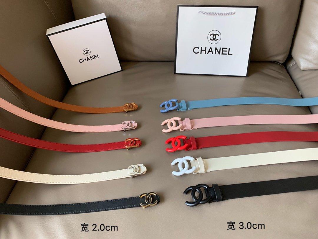 Chanel香奈儿专柜新款 高端女士休闲细腰带(图2)