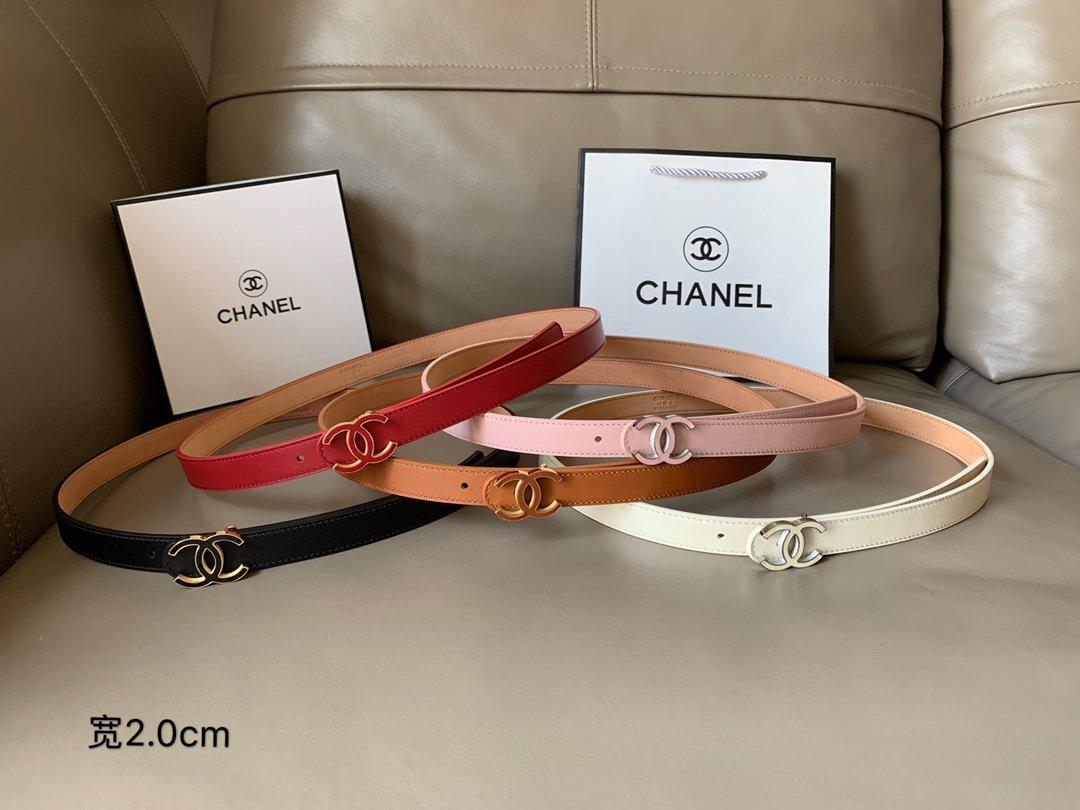 Chanel香奈儿专柜新款 高端女士休闲细腰带(图1)