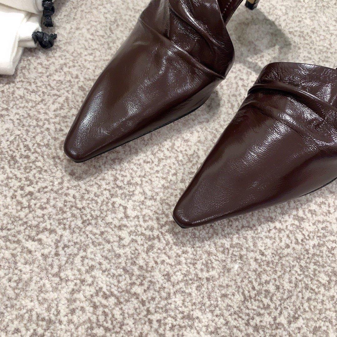 Bottega Veneta顶级版本HK专柜 2020 早秋新款尖头凉鞋(图9)