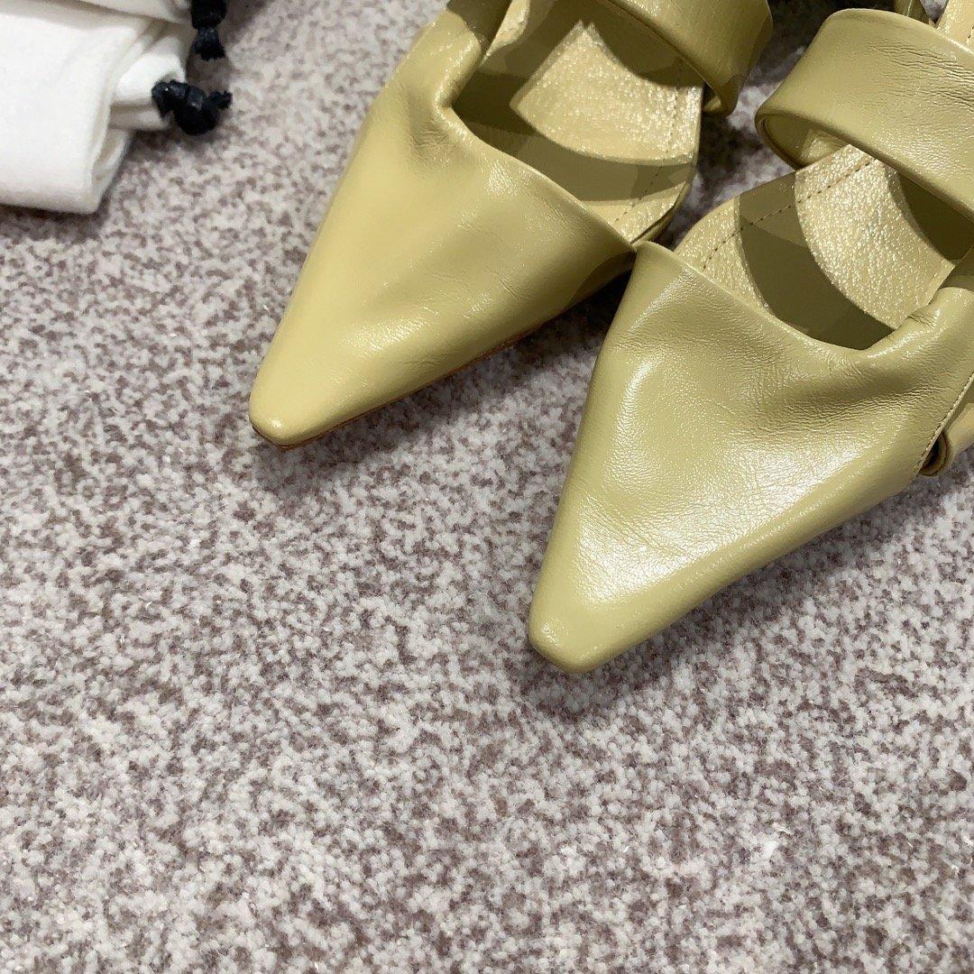 Bottega Venetd顶级版本HK专柜2020 早秋新款尖头凉鞋(图6)