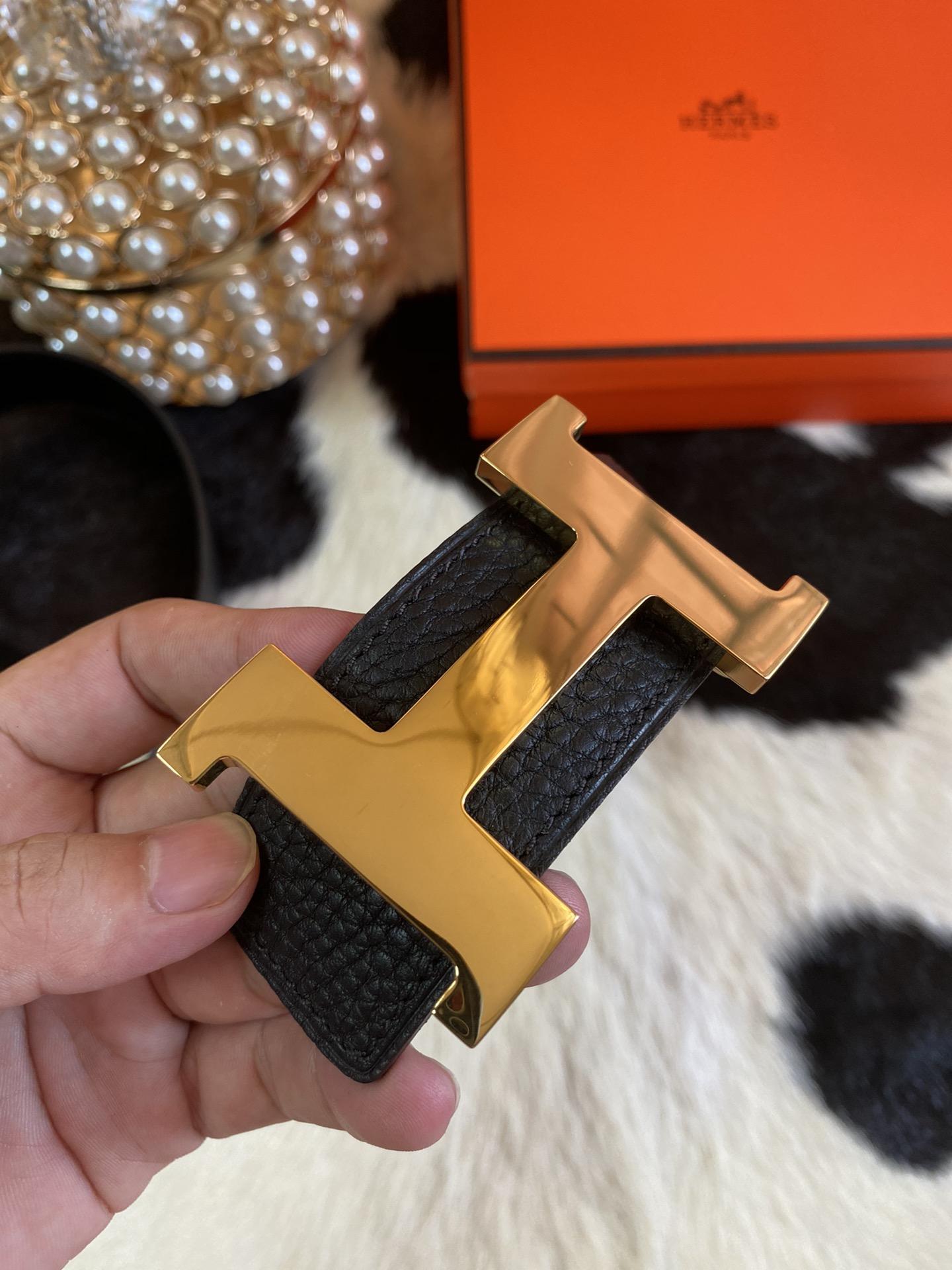 Hermes 2020 年全新升级版 双面togo皮 腰带 38mm(图5)