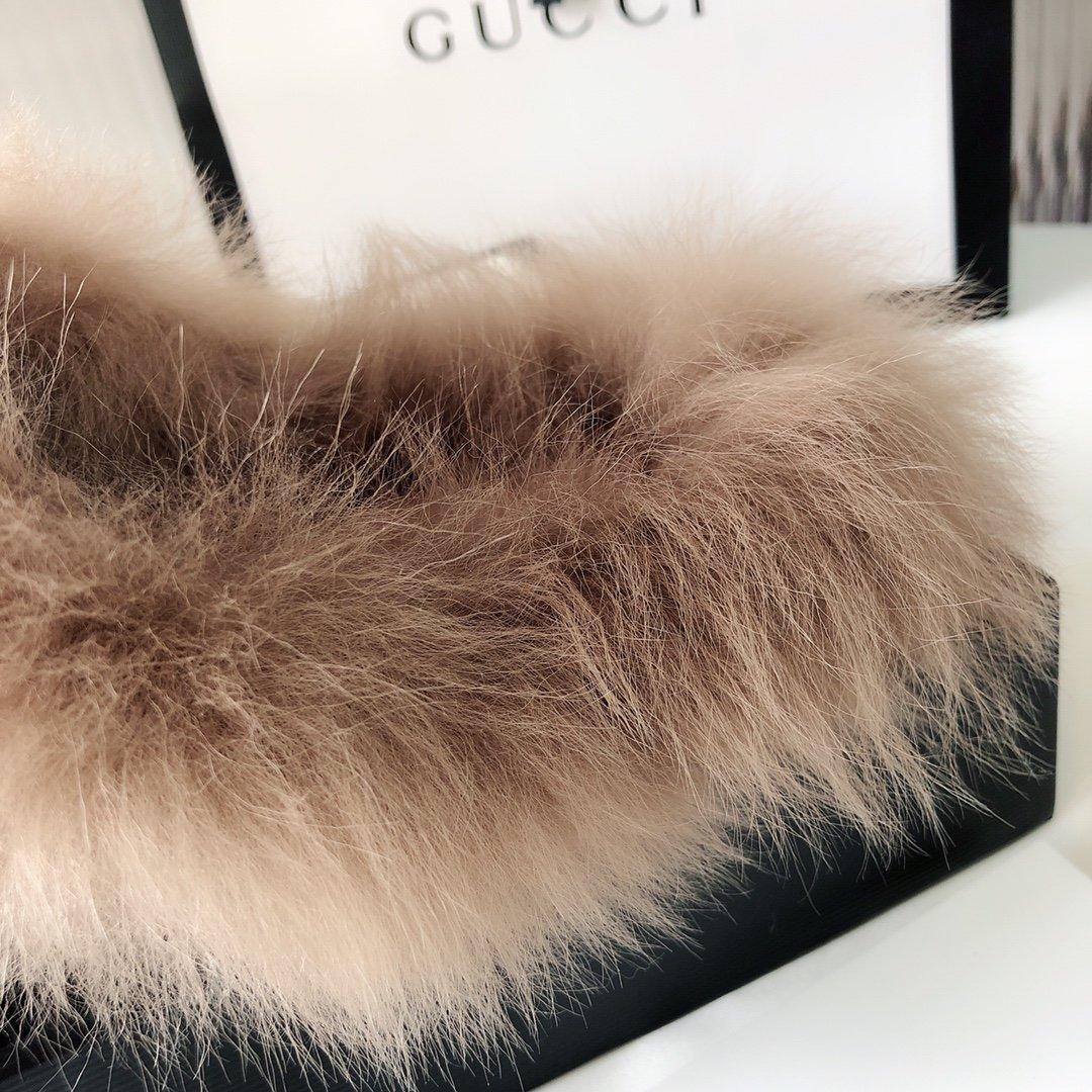 Gucci古奇 羔羊毛穆勒鞋明星同款(图18)